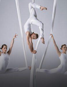 aerial silk dancers