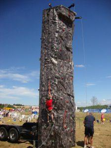 hire climbing wall