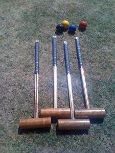 hire lawn croquet set