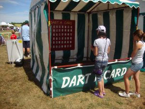 Hire dart a card side stall