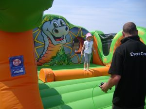 hire inflatable log roll