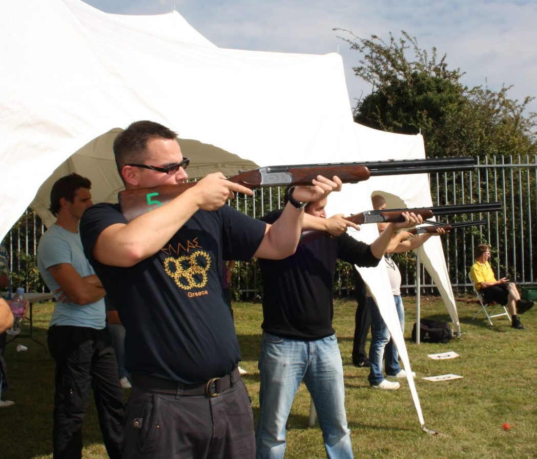 Outdoor Laser Clay Pigeon Shooting Hire