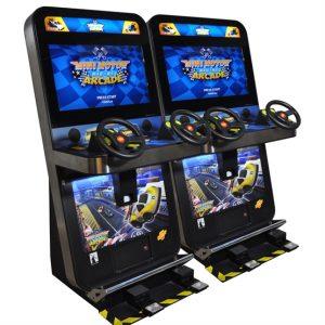 hire retro racing driving simulator
