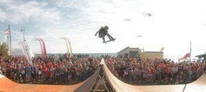 hire skateboarding display