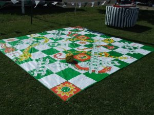 Hire snakes and ladders garden game