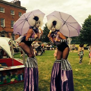 Hire stilt walkers