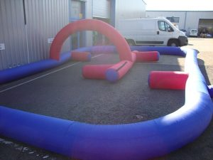 hire inflatable track