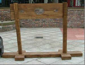 hire wooden medieval stocks